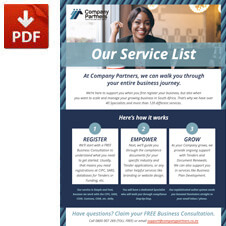 Full Service List Brochure: